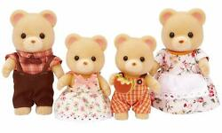 Calico Critters Cuddle Bear Family Removable Clothing Jointed Arms Legs Posable