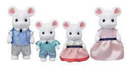 Calico Critters Marshmallow Mouse Family Removable Clothing Jointed Arms Legs