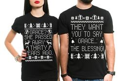 Couple Shirtscouple Matching Christmas Funny Shirts Popular Culture Movie Tee