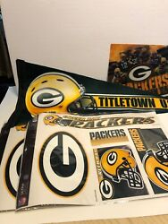 2 Green Bay Packers 11x17 Multi Use Ultra Decal And Flag Set Nfl Sticker Emblem