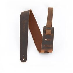 Martin Guitars 18a0065 Brown Leather Vintage Guitar Bass Strap, 54'' Length