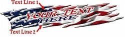 Custom Lettering Auto Usa Flag Boat Car Truck Graphics Decals Stickers 10-feet