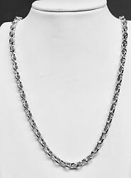 10kt Solid White Gold Handmade Rolo Link Men's Chain/necklace 22 50 Grams 5.5mm