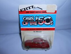 Vtg 1980and039s Moc Ertl Cars Of The 50and039s And03950 Mercury 1/64 Speed Wheels Taiwan Rare