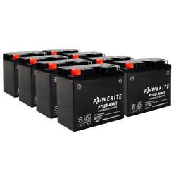Powerite Pt12b4 Factory Activated Battery Full Box Of 8 For Motorcycle Bike