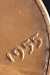 1955 Poor Man Double Die Lincoln Wheat Cent  4
