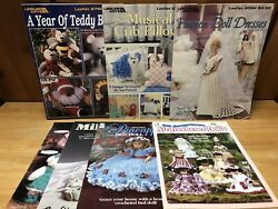 Lot Of 7 Leisure Arts House Of White Birches Knit Crochet Doll Patterns And More