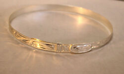 Western Hand Engraved Adjustable Silver Hatband 4 Rodeo Or Pageant 1/2 W