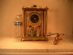 Vintage United Clock Corp Clock With Twirling Dancers