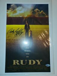 Rudy Ruettiger Autographed/signed Rudy Movie Poster 16x20 Photo Jsa 13021