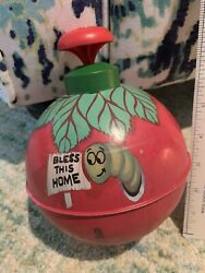 Rare Vintage 1950's Chein Burlington Spinning Top Bless This Home