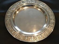 Gorham Antique Nursery Rhyme Baby Plate Sterling Silver 7andrdquo Plate