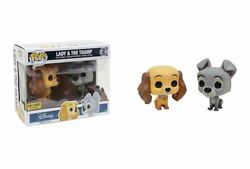 Funko Pop Disney Lady And The Tramp Hot Topic Exclusive 2 Pack Set