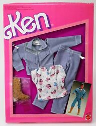 Foreign The Jeans Look Fashions For Ken Doll 4336 New Nrfp 1987 Mattel Inc.