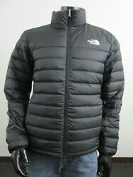 Mens TNF The North Face Flare 550 Down Insulated FZ Puffer Jacket Black Matte $132.95