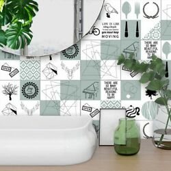 Modern Self-adhesive Kitchen Tiles Wall Stickers Nordic Art Decal DIY Home Decor