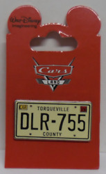 Disney Wdi Cars Land Mystery Collection Dlr-755 License Plate Pin Le 200