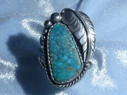 Classic Southwestern Natural Lone Mountain Turquoise Ring, Sterling, Size 6