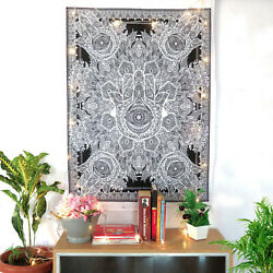 Hamsa Hand Hippie Tapestry Boho Wall Hanging Decor Posters Small Wall Tapestries