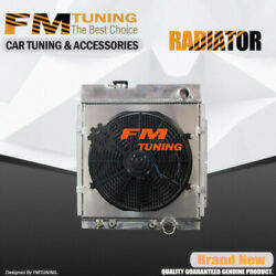 Falcon Mustang Radiator With Fan Shroud For Ford Mercury 63-65 3row Aluminum 130