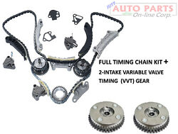 Timing Chain Kit+ 2 Cam Phaser Intake For 3.6l 3.0l 2007-up Malibu Cts Camaro G6