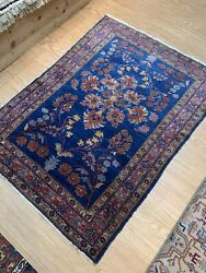 Genuine Antique Rug Sarouk Lilihan Design 3and039x 5and039 Authentic Early 1900 Handmade