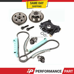 Timing Chain Kit Cam Phaser High Pressure Oil Pump For 05-10 Ford 4.6 Triton