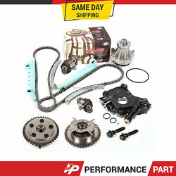 Timing Chain Kit Water Pump Cam Phaser Oil Pump For 05-10 Ford 4.6 Triton