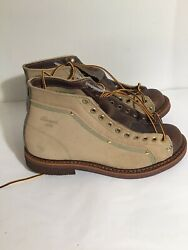 Thorogood 1892 Men Size 7 D Portage Lace To Toe Roofer Boots USA Made $184.00