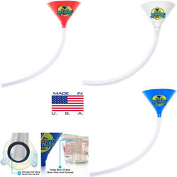 3 Large Beer Bong Funnel 3' Long Fun For Tailgating   Beer Funnel  made In Usa