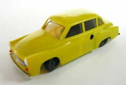 Vintage Plastic Yellow Wind Up Toy Car Wartburg Working Germany See