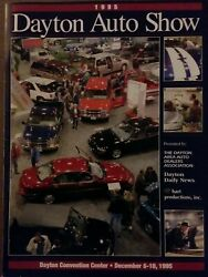1995 Dayton Auto Show Program Complete With 8 Perforated Postcards Intact