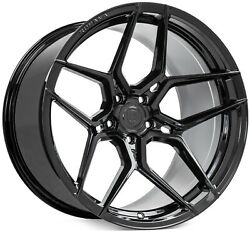 22andrdquo Rohana Rfx11 Black Concave Wheels For Bentley Flying Spur And Continental Gt