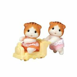 Calico Critters Maple Cat Twins Removable Detail Clothes Head Turns Pretend Play