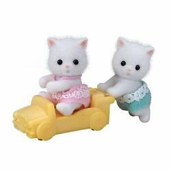Calico Critters Persian Cat Twins Removable Clothing Head Arms Move Pretend Play