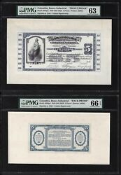 Colombia Face And Back 5 Pesos 1918nd1923 Pcols553p-556p Proof Uncirculated
