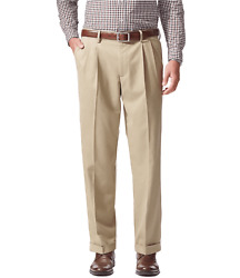 Dockers Menand039s Relaxed Fit Comfort Khaki Cuffed Pants - Pleated D4-timberwolf