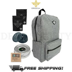 SKUNK ELEMENT Backpack Smell Proof Weather Proof Storage Lockable Bag Gray