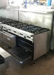 Garland Natural Gas 10 Burner Range With Convection And Standard Ovens G10-10cr