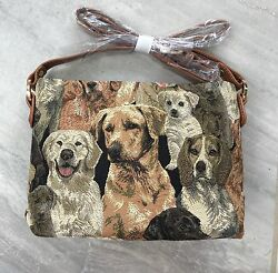 NEW SIGNARE Tapestry Dog Breeds Puppy Handbag Bag Purse X Long Strap $16.99