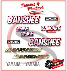 Yamaha Banshee Decals Reproduction Custom Parts Stickers 1989 2002 Fenders