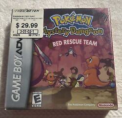Pokemon Mystery Dungeon Red Rescue Team Game Boy Advance Gba New Sealed H Seam