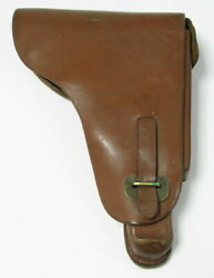 Rare Wwii Period German Leather Holster Luger Parabellum Pistol Germany See