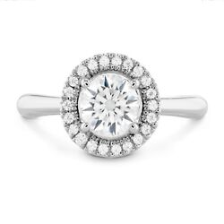 Natural 1.10 Ct Round Diamond Engagement Rings Solid 14k White Gold Size 6 7 8 9