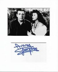 Anne Gwynne House Of Frankenstein Genuine Authentic Signed Autograph Display Coa