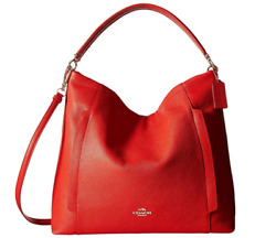 COACH Women#x27;s Polished Pebbled Leather Large Scout Hobo Cardinal One Size f34311 $109.00