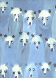 - D22w Wonderful And Whimsical Animal All Cotton Print Fabric 2 Yards Multi Blue