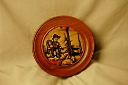 Vintage Hummel Print Pull String Wall Plaque W/ Reuge Movement Lullaby