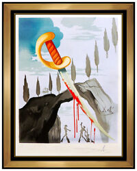 Salvador Dali Whoever Carries Off Carmen Color Lithograph Hand Signed Framed Art