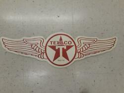 Texaco Metal Sign 27 By 7 Inches Raised Letters Man Cave Garage